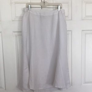 Catherines linen blend skirt plus size OX 14/16W